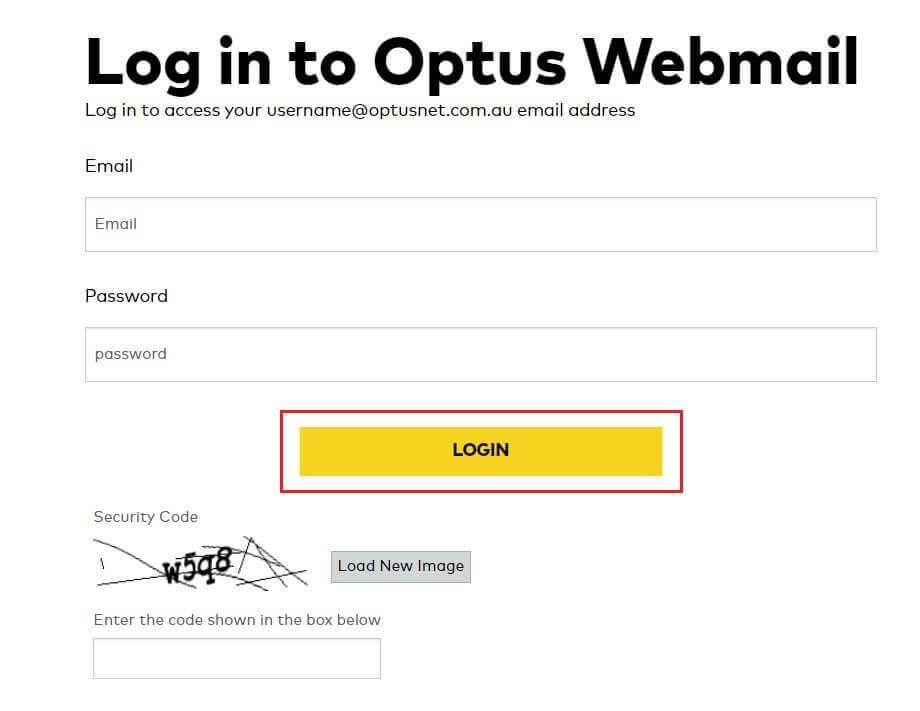 optus webmail log in
